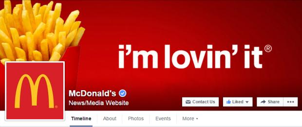 McDonalds Facebook Cover Photo